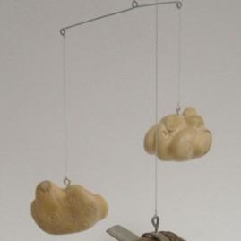 Icare2. Bronze, buis et maillechort. Hauteur 30cm