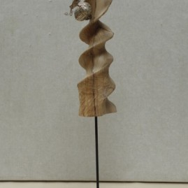 L'échelle de Jacob. Argent et olivier. Hauteur 25cm